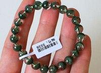 free shipping Highest grade Green Phantom Quartz Bracelet 8 mm Meditation Prayer beads 8MM