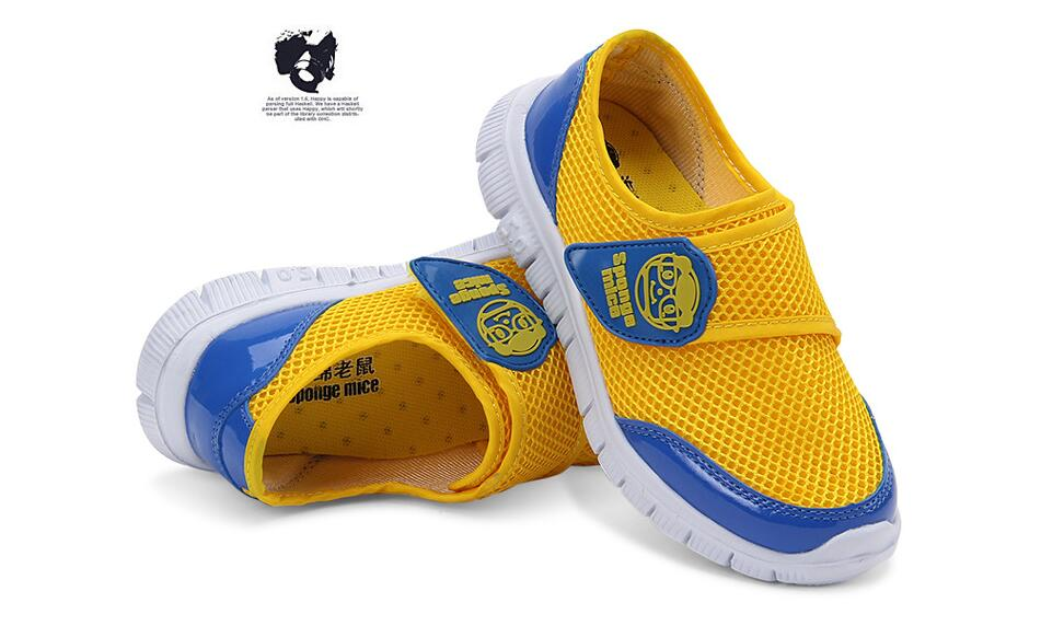 Fashion Breathable Girls Boys Casual Shoes Summer Mesh Kids Shoes Sneakers