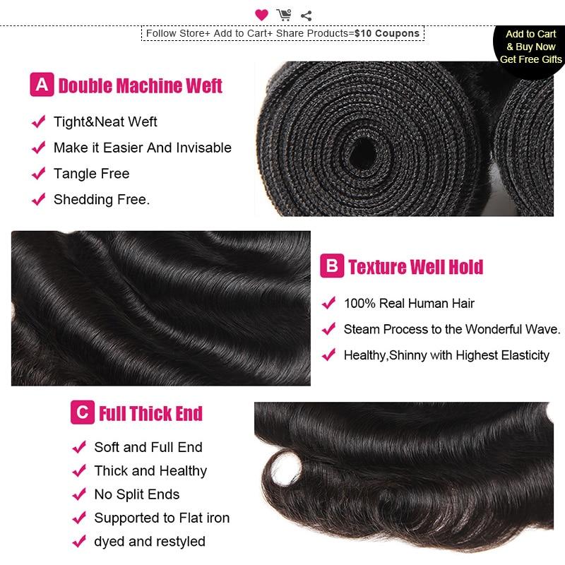 Ishow Malaysian Body Wave Hajcsomag Nem Remy Hair Weave Csomag 1 - Emberi haj (fekete) - Fénykép 3