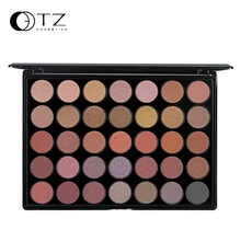 2016 TZ Makeup 35 Earth Colors Glitter Eyeshadow Palette nk Metallic Shimmer Matte Eye Shadow Make Up naked Palette Cosmetics