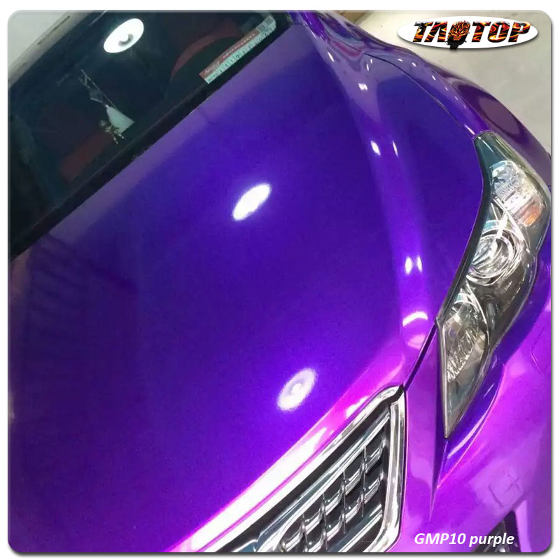 TAOTOP 1.52*20m Top quality super gloss Purple High glossy metalic pearl car body vinyl car wrap Film for cars wrapping GMP10