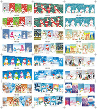 Large (1Set=12Pcs)YB923-934 Christmas Fashion Nail Art Stickers Decals Temporary Santa Decoration Tattoos DIY Tips Nail Tools
