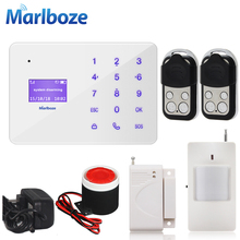 Marlboze A2 French Hungarian Russian Spanish Voice Wireless Wired Home Security GSM Alarm System LCD Display Touch Keypad