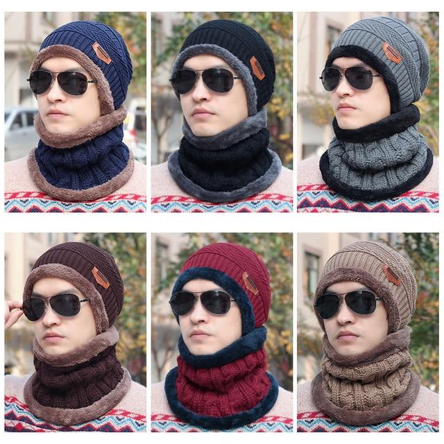 Hombres de la moda de lana de invierno Fleece calentador del cuello bufanda  tubo orejeras mascarilla fad5ccd7f67