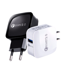 Quick Charge 3 0 Mobile Phone USB Charger for iPhone Huawei Xiaomi Samsung Galaxy S7 S8