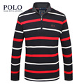 Royal Queen's brand 2017 spring autumn new men's SWEATER MENS T-shirt sleeve stripe head men's business casual fashion