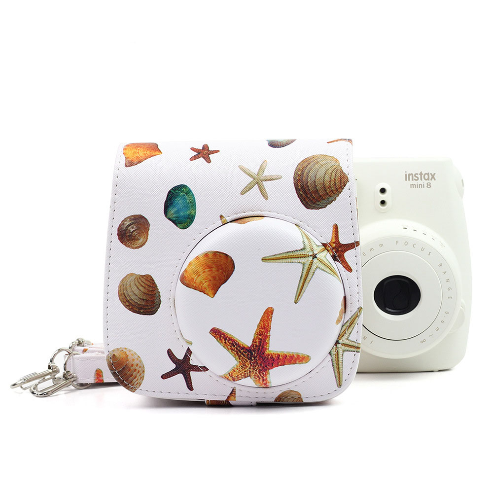 Sea Star PU Leather Camera Shoulder Bag Protector Case Cover For Polaroid Photo For Fujifilm Instax Mini 8/8S/8/9 Case