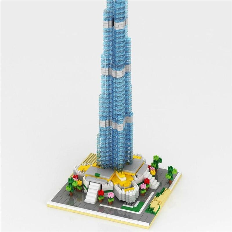 Burj Khalifa Model Building Blocks Set 1681pcs Nano Bricks Assemble DIY Educational Toys for Children Gift hot sale 1000g dynamic amazing diy educational toys no mess indoor magic play sand children toys mars space sand
