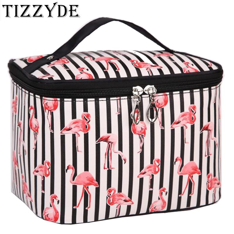Waterproof Pouch Toilet-Bag Make-Up-Box Travel-Organizer Necessaire Flamingo Large New