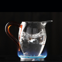 Chinese Kung Fu Tea Set Fair Cup Glass Thick Heat resistant Cup Can Be Heated Tea Pot Transparent Teapot with Tea Strainer 350ml
