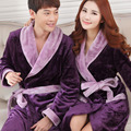 Dressing Gown Robes Real Sexy 2016 Warm Winter And Coral Couple Thickened Flannel Bathrobe Home Furnishing Increase Service