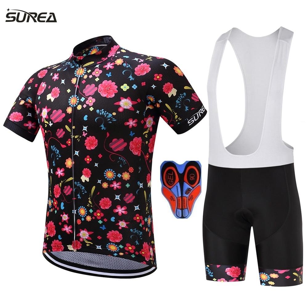 2017 flores bicicleta jersey ciclismo jersey verano ropa deportiva - Ciclismo