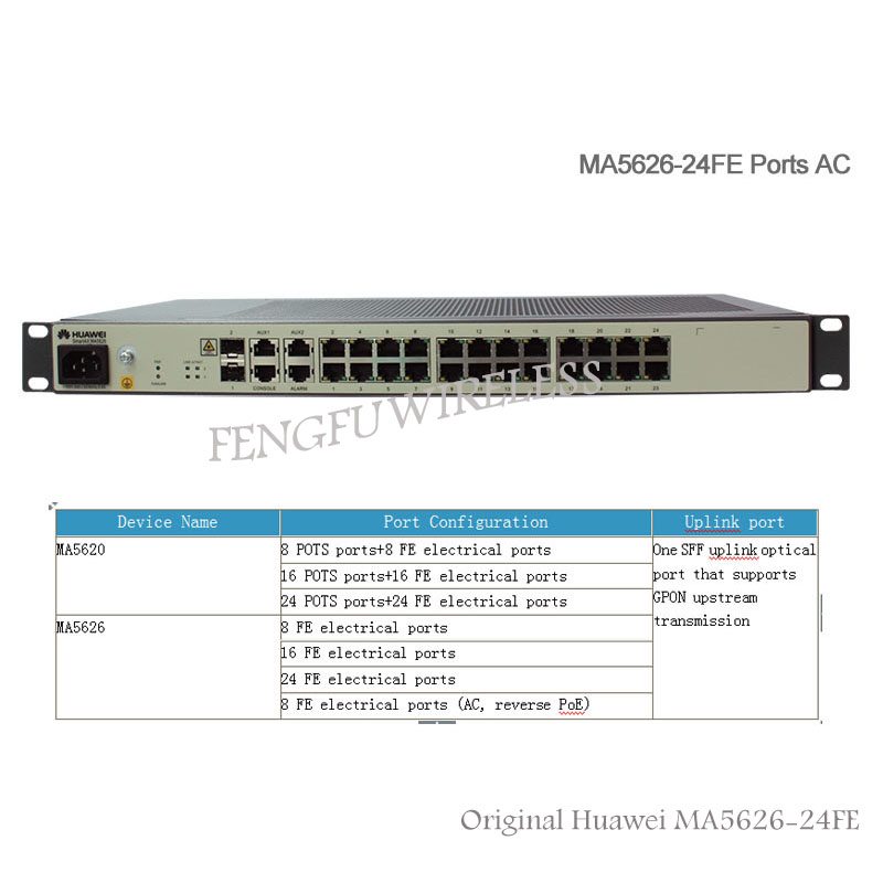 Original Hua wei MDU MA5626-24 GPON, MA5626 24 Port Power Over Ethernet  with no POE