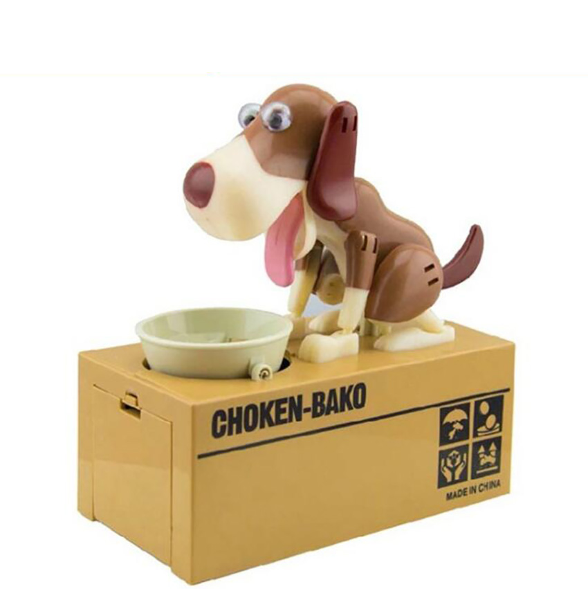 Puppy Dog Hungry Coin Bank Eating Munching Money Box Saving Box Robotic Dog Piggy Bank Money Saver Box Toy Great Gift For Kids