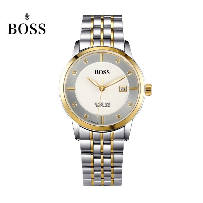 BOSS Germany watches men luxury brand Senator 21 jewels MIYOTA CO JAPAN automatic self wind mechanical