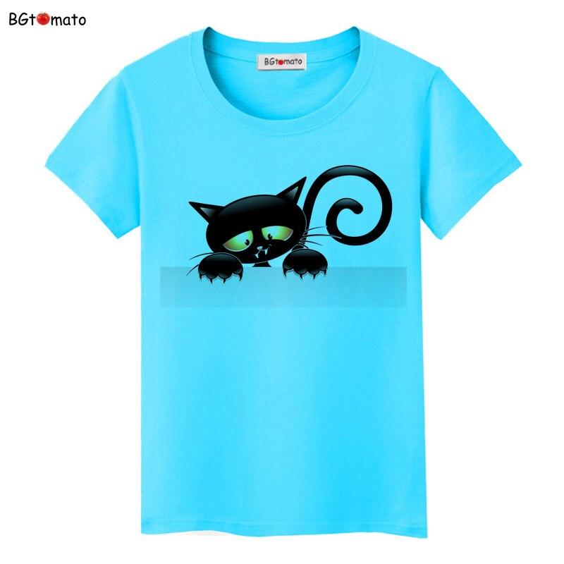 BGtomato super cool elegant cat t shirt women hot sale clothes lovely tshirt fashion top tees t-shirt Brand kawaii shirt 13