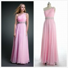 vestido de festa longo Formal gown free shipping robe soiree 2014 new casamento one shoulder long crystal Graduation Dresses