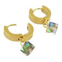Большая распродажа 316 lstainless стали мотаться клип мода роскошные клипсы уха ювелирных изделий обруч клип многоцветный зеленый пирсинг украшения