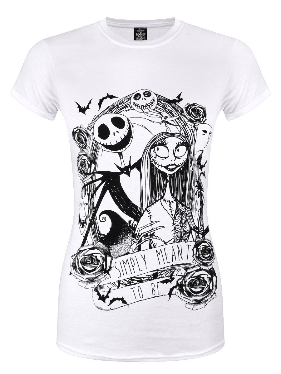 The Nightmare Before Christmas Simply Meant To Be Women\'s White T ...