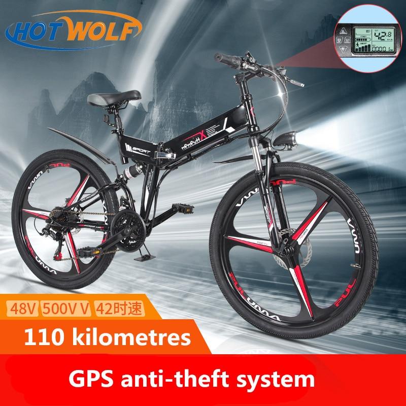 Nuova Bici Elettrica 21 Velocità 10AH 48 V 350 W 110 KM Built-In batteria Al Litio E bici elettrica 26