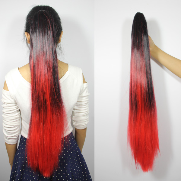 Free Shipping Two Tone Style Dip Dyed Party Cosplay Fashion Ponytail