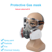 Half Face Painting Spraying Respirator Gas Mask protect gas mask for Safety Work Filter Dust Mask Car Spray Protective Mask gas cartridge filter p e 3 protect against so2