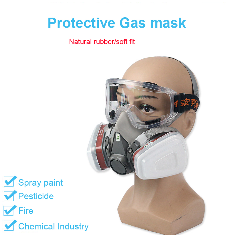 Half Face Painting Spraying Respirator Gas Mask Protect Dust Mask For Safety Work Filter Welding Spray Protective Anti Pollution