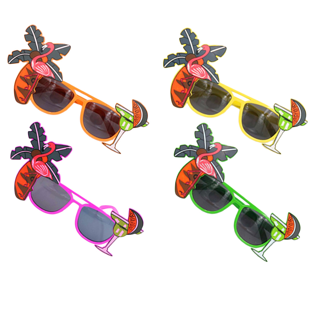 2019 Beach Party Decorations Wedding Decor Pineapple Sunglasses Hawaiian Funny Glasses Event Supplies Novelty Flamingo Party in Sunglasses from Mother Kids