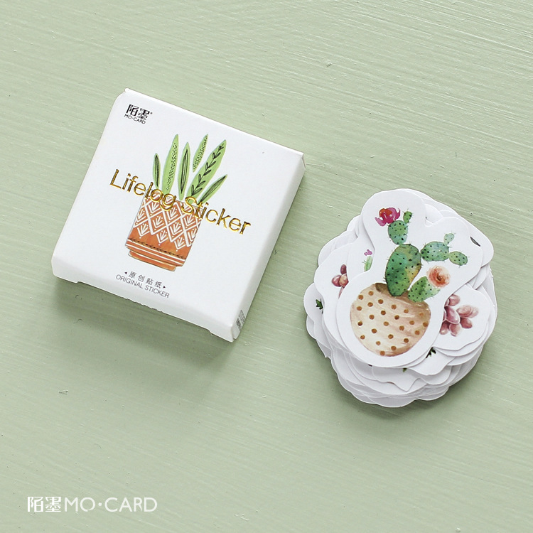 45 PCS/lot New Cute Cactus Mini Paper Sticker Decoration DIY Ablum Diary Scrapbooking Label Sticker Kawaii Stationery
