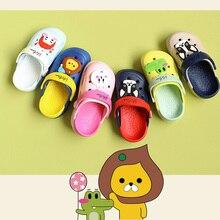 Высококачественная летняя садовая обувь с героями мультфильмов; Милая Открытая обувь; детская пляжная обувь; Нескользящая дышащая обувь с кроком