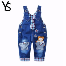 Top Quality 100% Cotton Infant Baby Long Pants Overalls Girls Boys Jumpsuit For Spring Autumn Jeans Rompers Toddler Clothes