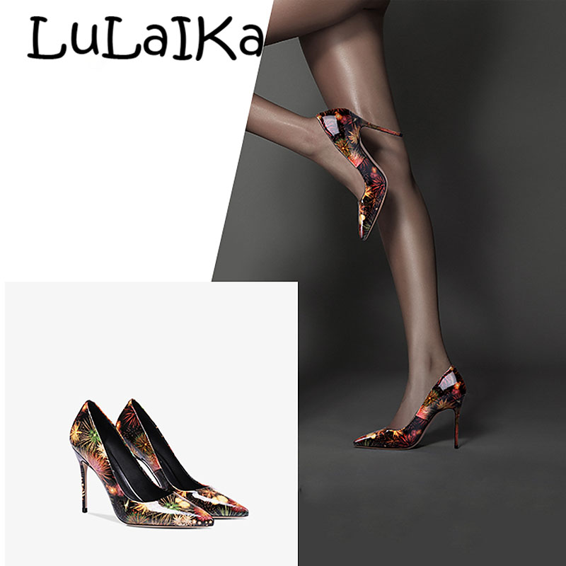 2018 Black Graffiti Colorful Women Pumps Sexy Women High Heels Spring Wedding Party Women Shoes Stilettos2018 Black Graffiti Colorful Women Pumps Sexy Women High Heels Spring Wedding Party Women Shoes Stilettos