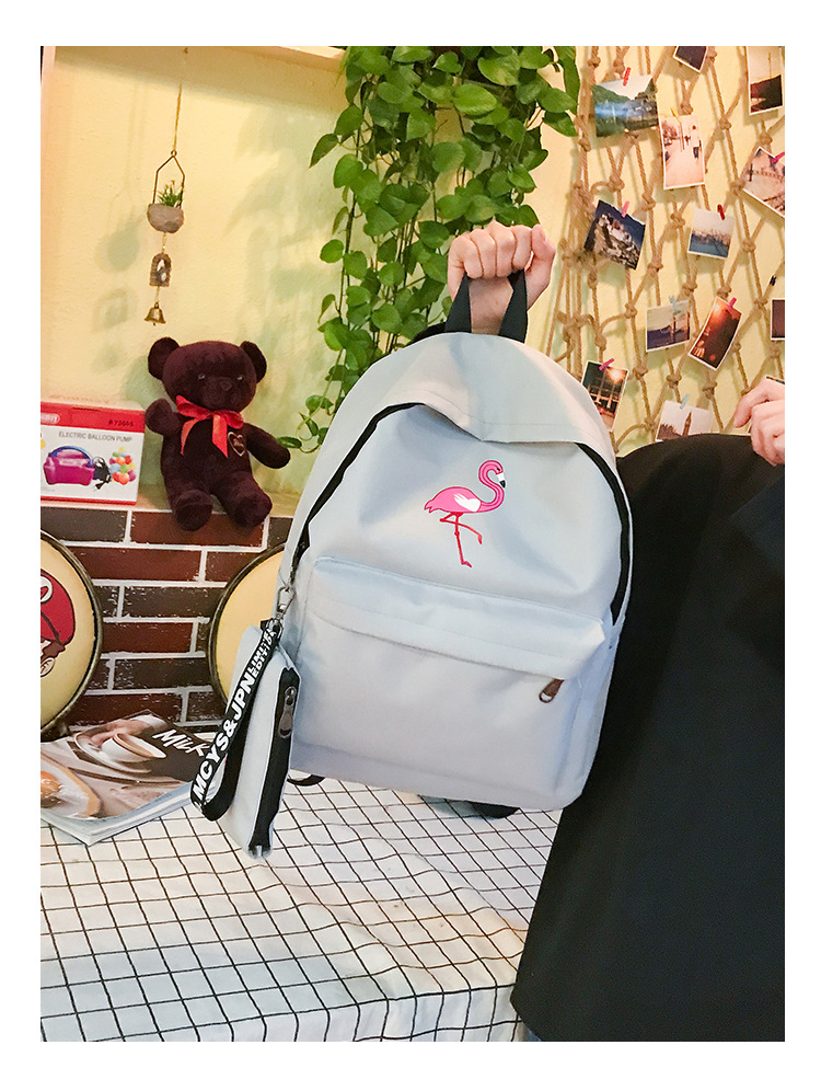 HTB1opIABZyYBuNkSnfoq6AWgVXar Backpacks Brand Women Simple Flamingo Printing Backpack For Teenage Girls Laptop School Bags Mochila 2019