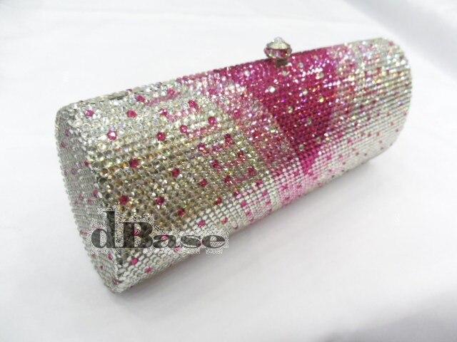 ФОТО L7703TC Crystal Lady Fashion Bridal Party Metal Evening purse handbag clutch bag case