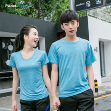 High quality colorful Ice Cotton short sleeve T-shirt blank solid T-shirt for men and women new arrival summer O-neck tops tees
