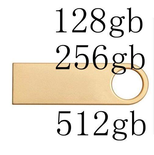 Alta Calidad Rectángulo de Metal USB Flash Drive 512 GB Pen Drive 256 GB Pendrive USB 2.0 Memoria del Palillo del Disco de 128 GB 8 GB 16 GB 32 GB 64 GB