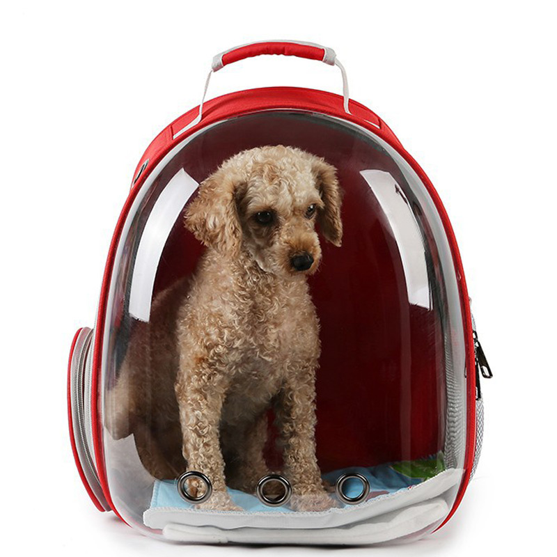 Portable Puppy Cat Backpack Pet Rucksack Breathable Hole Panoramic Mochila Travel Dog Carrier Space Capsule Transparent Backbag