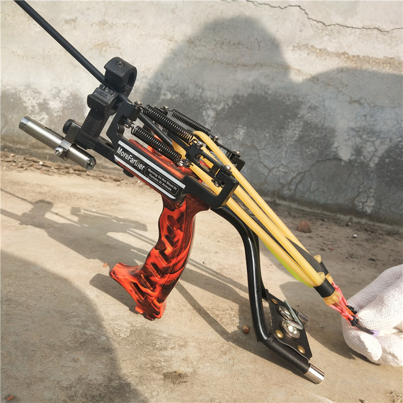 Laser Slingshot Outdoor Hunting Fishing Catapult Shooting Arrow Large Power with Re