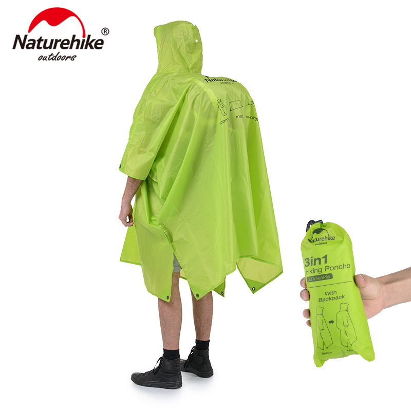 Naturehike Raincoat Poncho Mountaineering Hiking Fishing for NH17D002-M 3-In-1 Multifunction