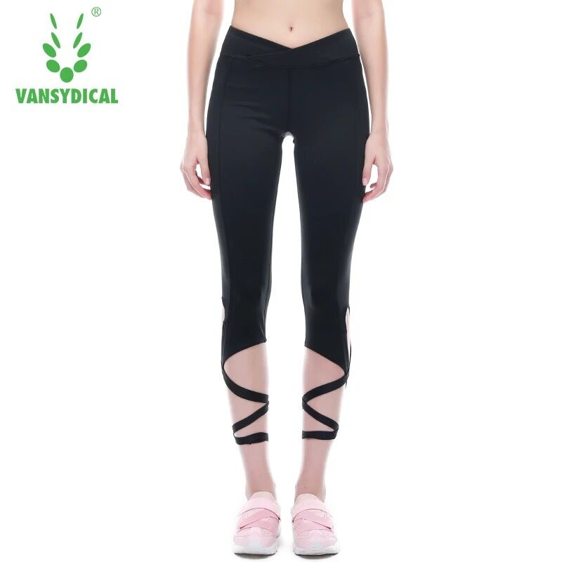 Fitness Womens Running Pants Patchwork Elastic Quick Dry High Waist Sports Leggings Gym Plus Size