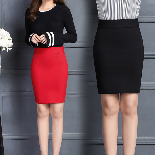 Summer Elegant Office Skirt Y Short Mini Skirts Womens Slim High Waist Pencil Empire