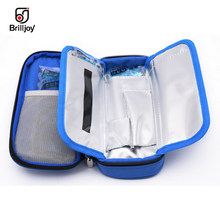 Brilljoy Portable Insulin Cooling Bag Ice Pack Thermal Cooler Bag Refrigerator Bolsa Termica 4-24 Degree Centigrade Display A50(China)