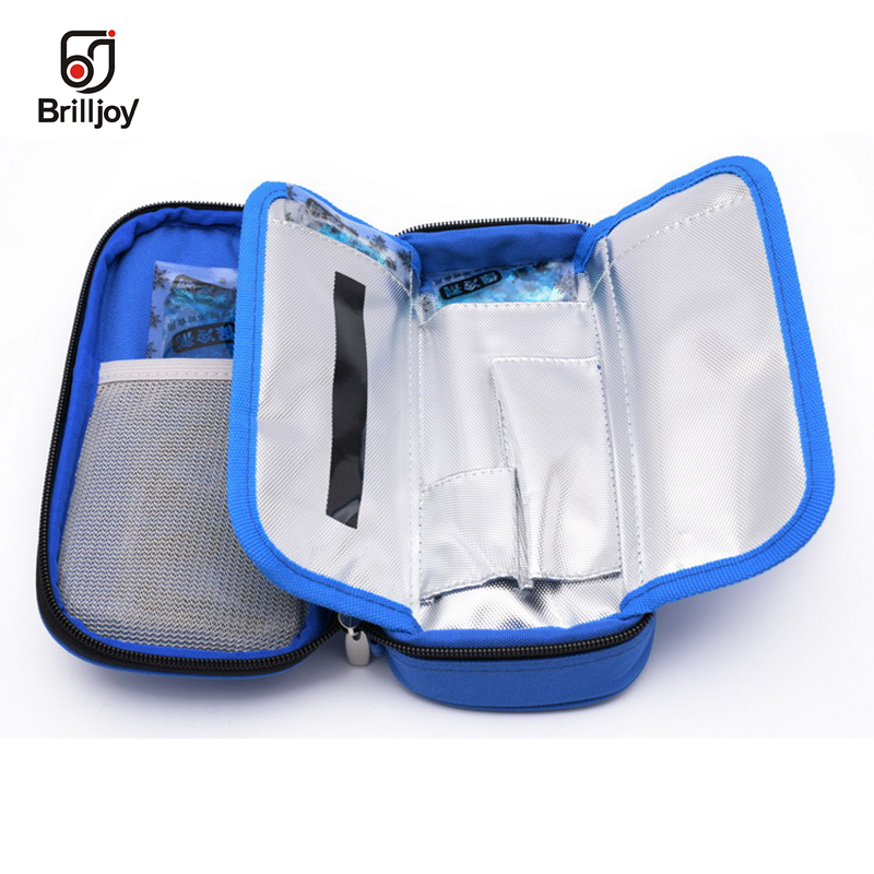 Brilljoy font b Portable b font Insulin Cooling Bag Ice Pack Thermal Cooler Bag Refrigerator Bolsa