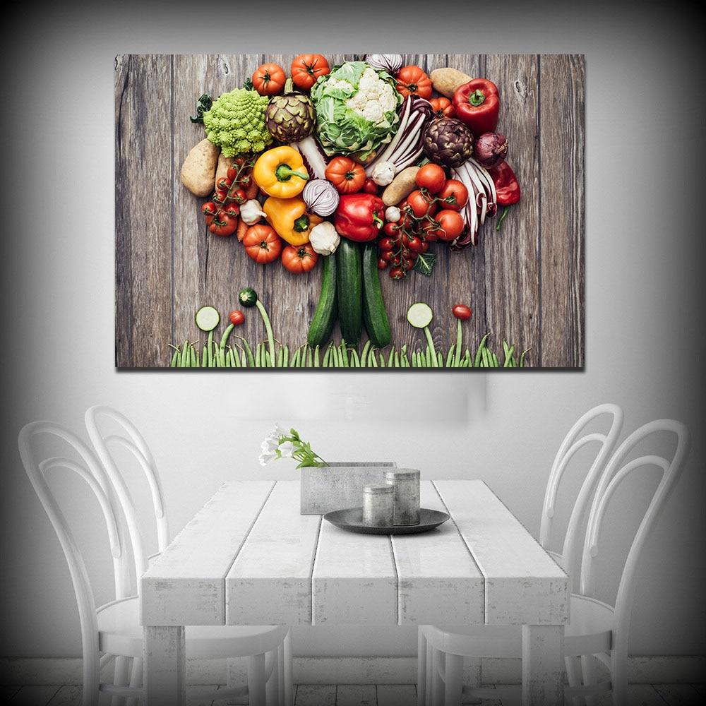 online get cheap vegetable art prints aliexpresscom  alibaba group - wang art vegetables big party home decor print living room modern wall artcanvas painting no