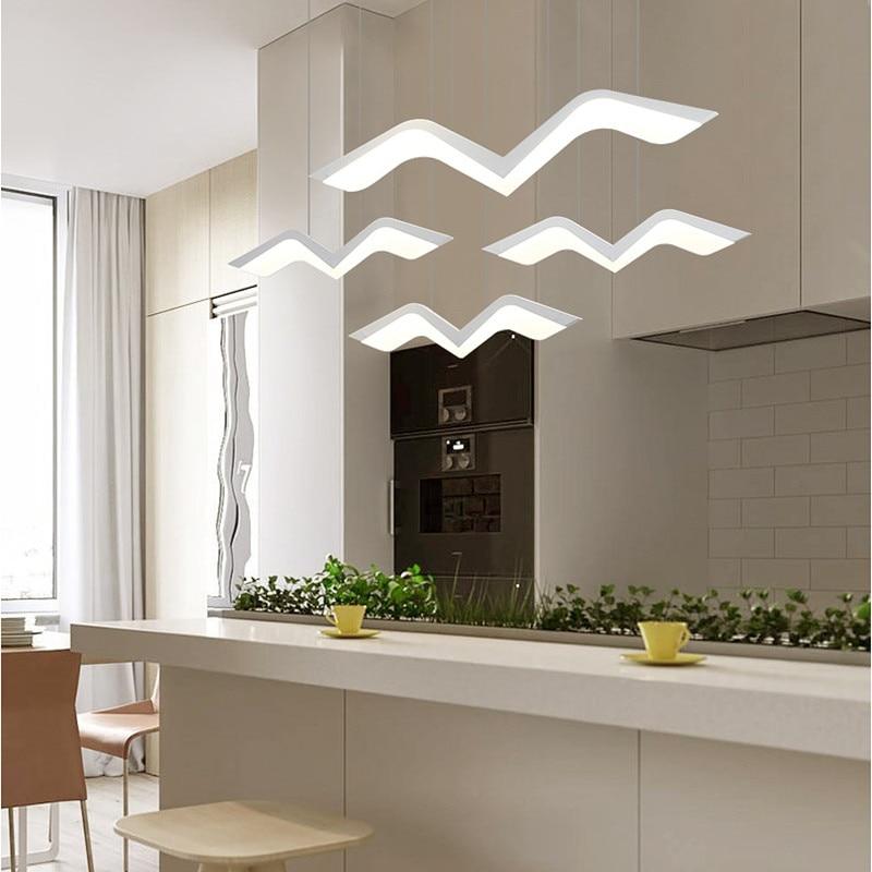 Lumière de pendentif LED de Restaurant de mouette; lampe minimaliste moderne de poste à la maison; lampe pendante d'étude de salon; idées d'éclairage suspendues de barre