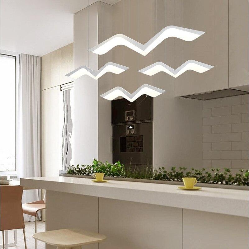 Us 65 32 29 Off Seagull Restaurant Led Pendant Light Home Post Modern Minimalist Lamp Living Room Study Bar Hanging Lighting Ideas In