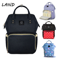 land diaper bag backpack Fashion Mummy maternity bags for mother large waterproof baby care nappy changing bag big for stroller
