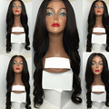 Precio al por mayor!! 180% Densidad llena del cordón del pelo humano virginal Peruano wave/ondulado pelucas del frente del cordón con el bebé pelo alrededor