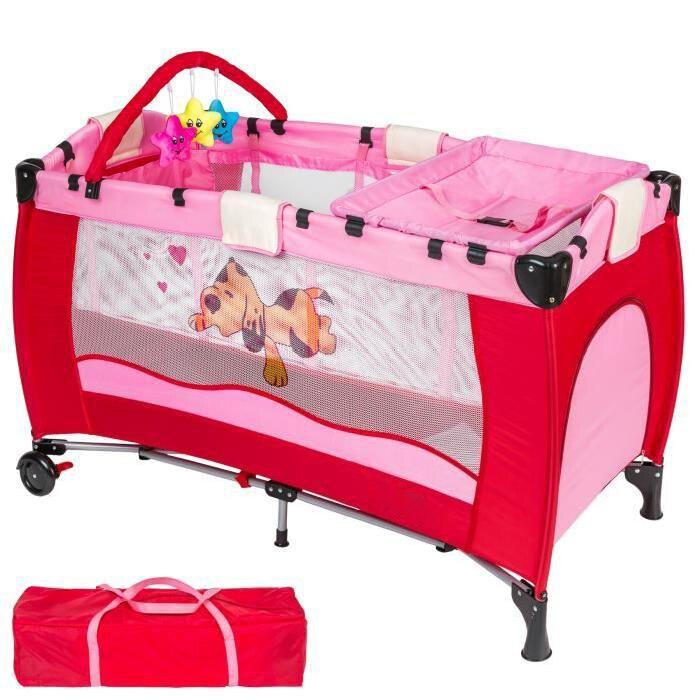 Lit bébé pliant multifonctionnel Portable lit bébé avec couches Table à langer voyage enfant jeux lits pour berceau bébé HWC - 2