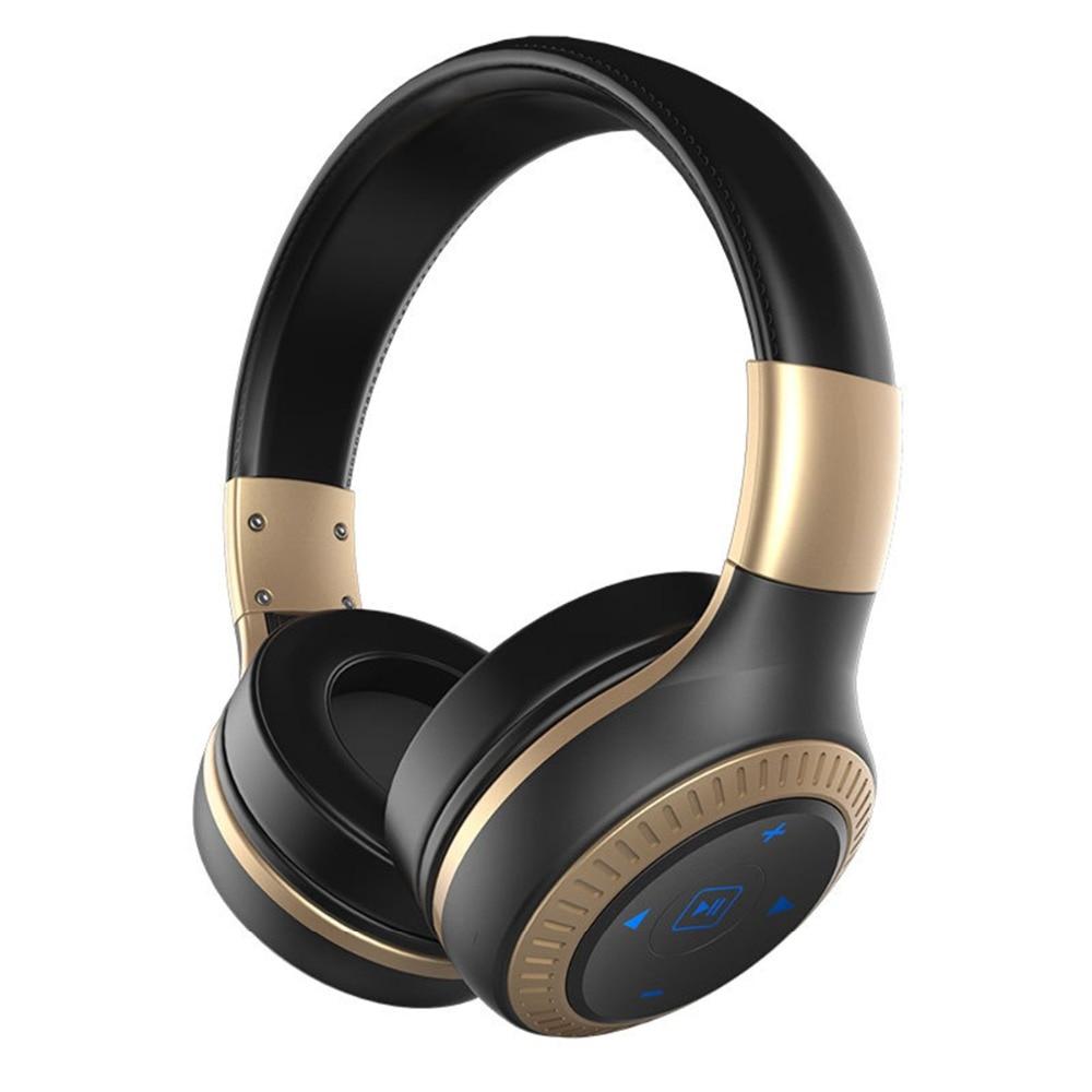 SOONHUA Foldable Wireless Bluetooth Headset HiFi Headphone Super Bass Stereo Sound Earphone With MIC Supports FM Radio Handsfree
